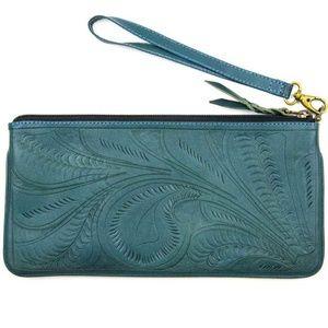 Handbags - Teal Wristlet